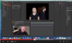 YouTube video showing the chroma key process