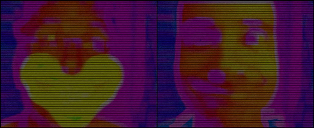 Low-quality thermal layer showing the before/after transition