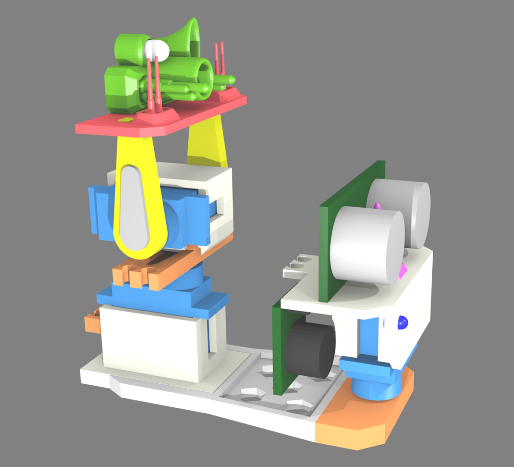 Finished turret model